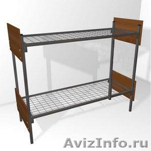Кровати металлические двухъярусные для рабочих, кровати металлические оптом - Изображение #5, Объявление #1479545