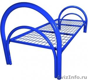 Кровати металлические двухъярусные для рабочих, кровати металлические оптом - Изображение #3, Объявление #1479545